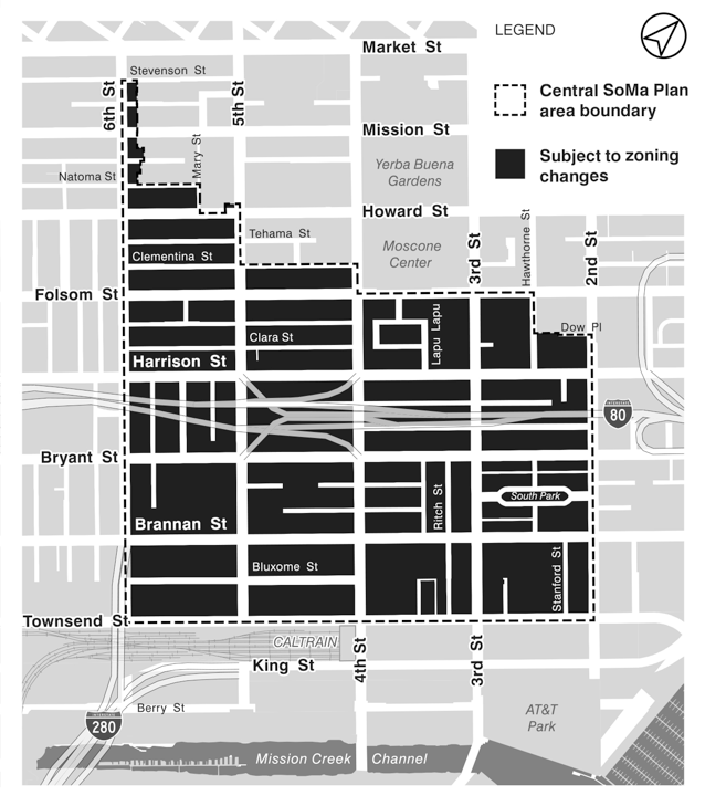 central soma proposed zoning map
